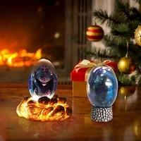 luminous lava dragon egg resin dinosaur egg sculpture ornamental collection crystal home decoration crafts for sale