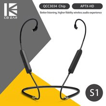 KBEAR S1 Bluetooth 5.0 câble écouteur amélioré sans fil 2PIN/TFZ/MMCX écouteurs câble APTX-HD tech KBEAR KS2 KB04 TRI I3 I4