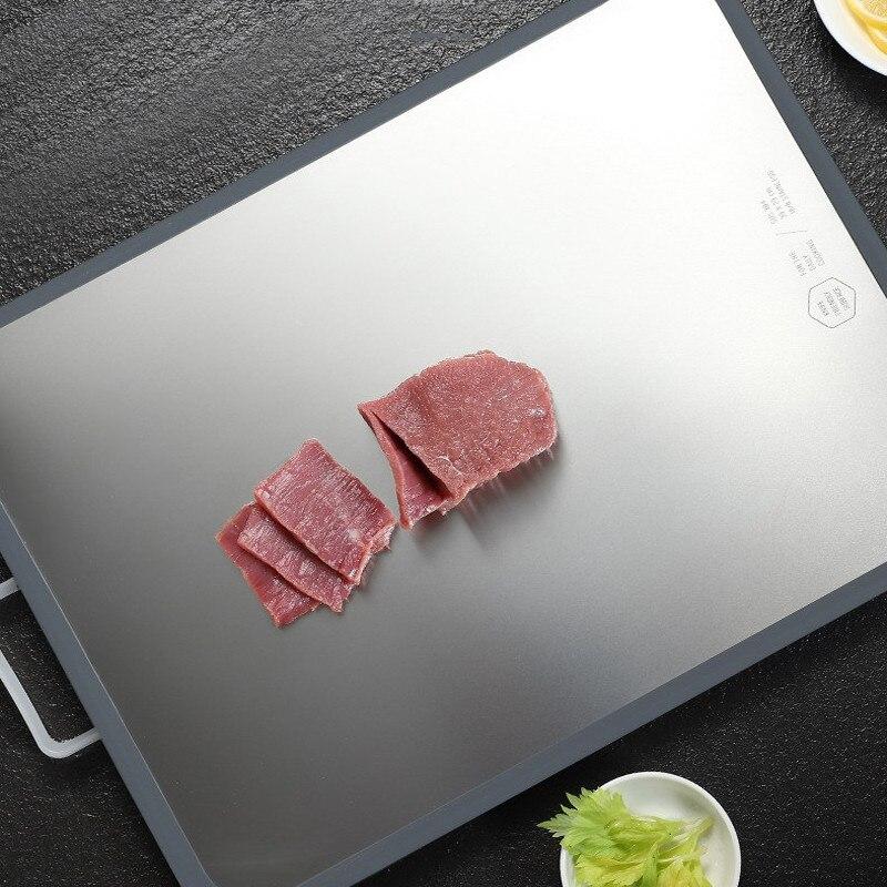 Tabla de cortar gruesa antideslizante, tabla de cortar antimoho de acero inoxidable duradera, tabla de cortar de cocina de doble cara #1