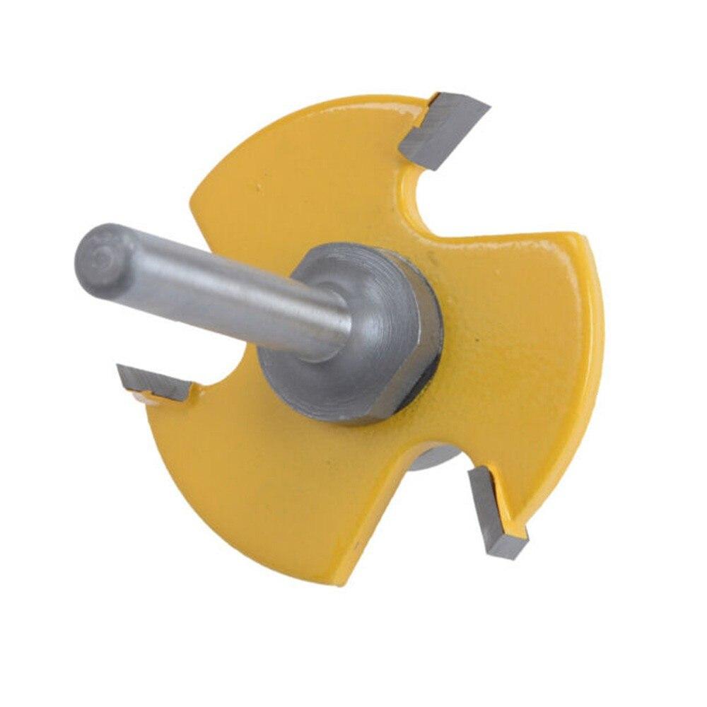 Cortador de Aço Bit para Reparar Roteador Dentes 6mm Shank Carboneto Kit Alça Redonda Gavetas 2pcs Bit 3