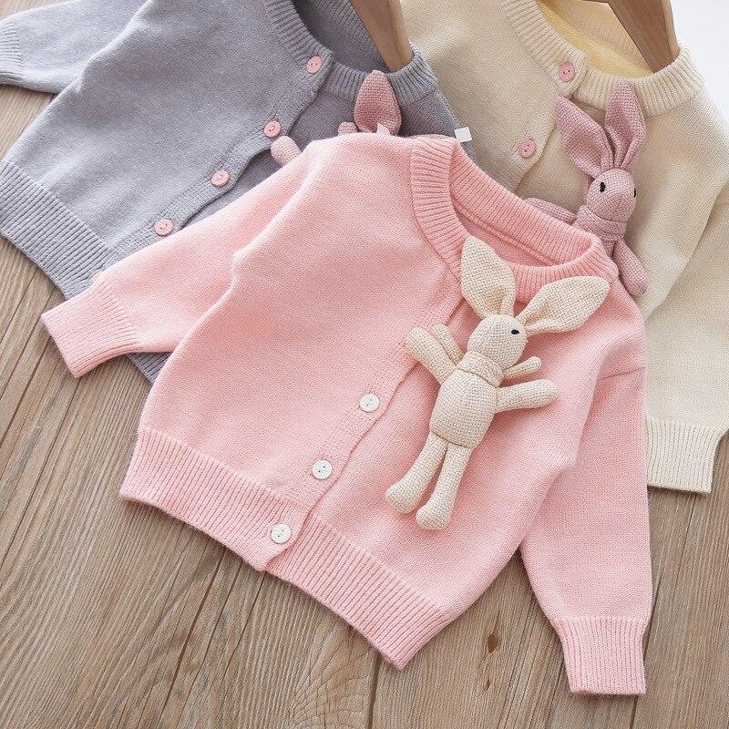 Bébé fille mignon pull Cardigan automne lapin pull mince pull princesse manteau enfants bébé fille chiffons
