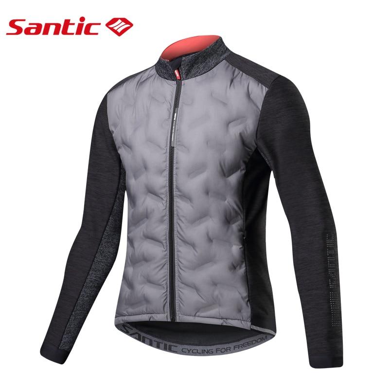 Santic 2019 nouveauté hiver garder au chaud vestes de cyclisme à manches longues Jersey coupe-vent léger vélo vêtements hommes M8C01094