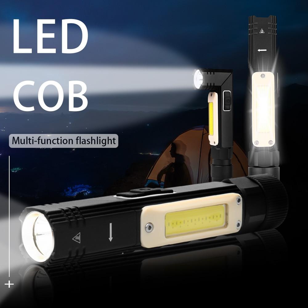 Портативный светодиодный многофункциональный фонарик задний магнит 90 градусов