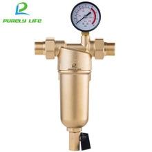 Siphon Backwas Pre-กรองน้ำกรองทั้งหมดทองเหลืองระบบสแตนเลสตาข่ายPrefiltroเครื่องวัดความดันจัดส่งฟรี