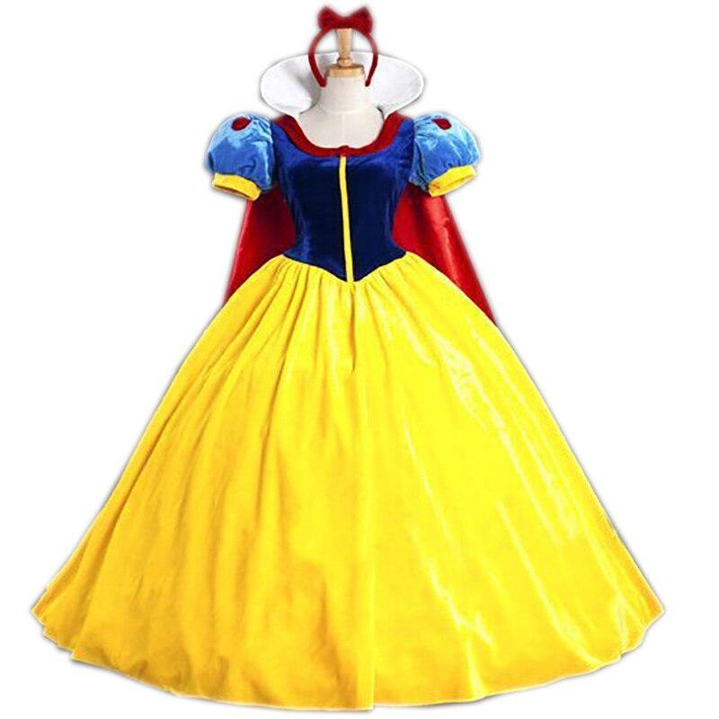 Белоснежка; Костюм принцессы для взрослых для женщин; Вечерние карнавальные костюмы на Хэллоуин; Карнавальные костюмы; Платье для девочек + ...