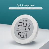 Thermometre et hygrometre Bluetooth  capteur de temperature et dhumidite  ecran dencre electronique  grand Angle de vue  pour maison intelligente avec Homekit Siri