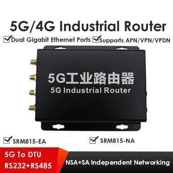 5G LTE Gigabit Router Dual Mode NSA+SA W/RS232 RS485 SRM815 Suitable for Video Surveillance Petrochemical Transportation etc.