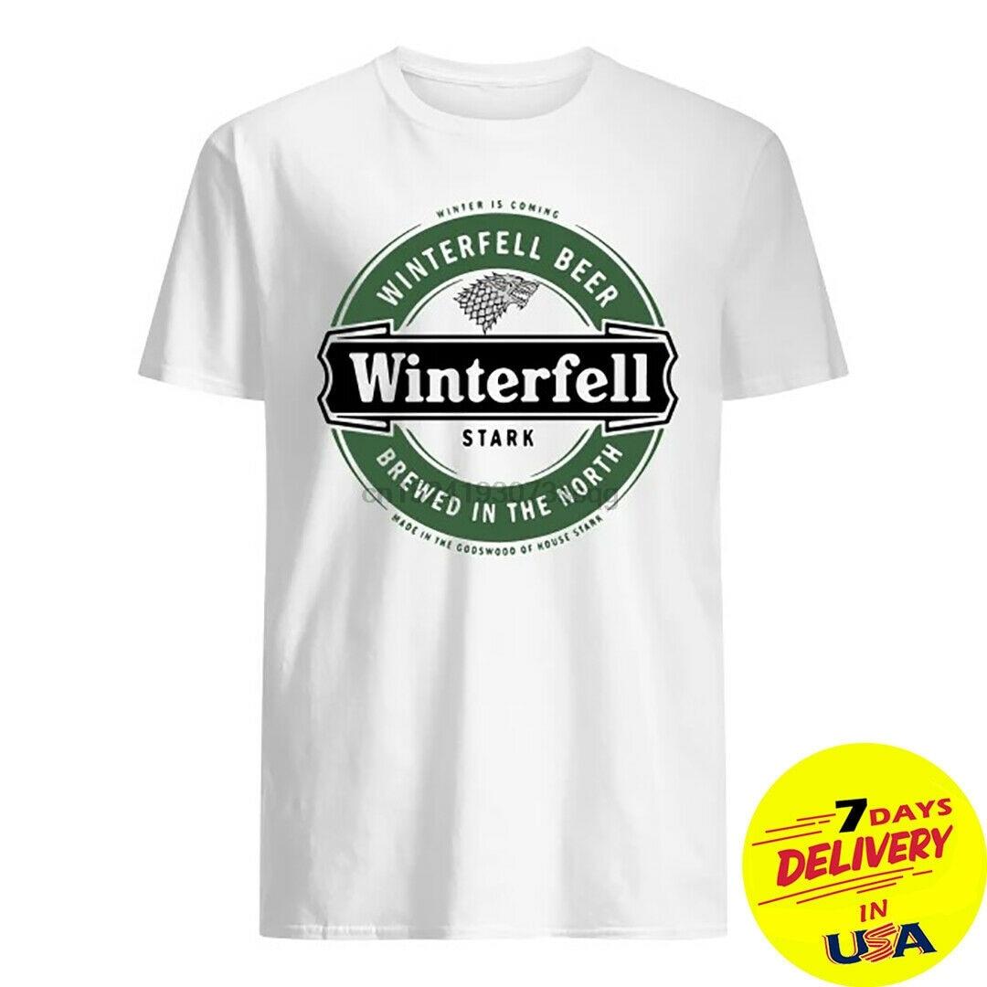 El invierno se acerca, camiseta de cerveza de Invernalia Stark GOT Game of tronos Fan