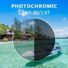 Quality Anti Blue Light Rays Photochromic 1.56 1.61 1.67 Prescription CR-39 Resin Aspheric Glasses L