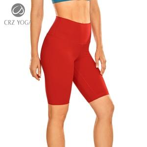 "CRZ YOGA Women's Naked Feeling Yoga Shorts - 10"" High Waisted Athletic for Women Workout Biker Shorts"