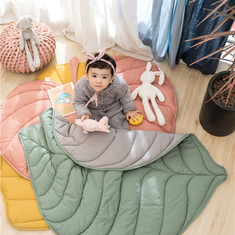 غطاء قطني متعدد الوظائف للأطفال ، بطانية على شكل أوراق شجر ، سجادة أرضية لغرفة المعيشة ، ديكور منزلي ، سجادة نزهة ، جديد لعام 2020