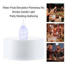 Flotteur deau Simulation sans flamme pas de fumée bougie lumière lampe fête de mariage rassemblement anniversaire Occasion utilisation