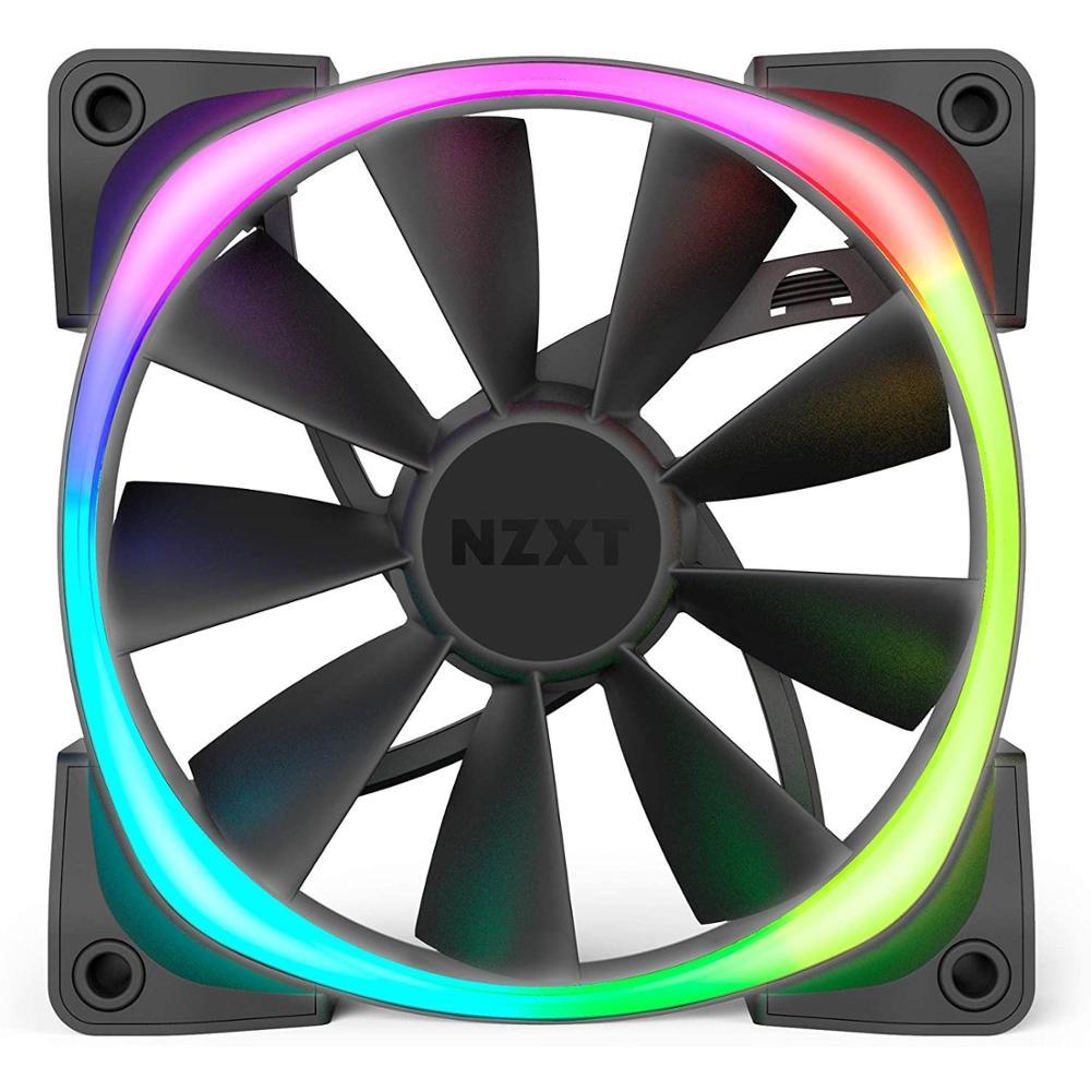 NZXT AER RGB 2-140mm RGB LED Flüssigkeit Dynamische Lager PWM Fan für Farbton 2 Einzel
