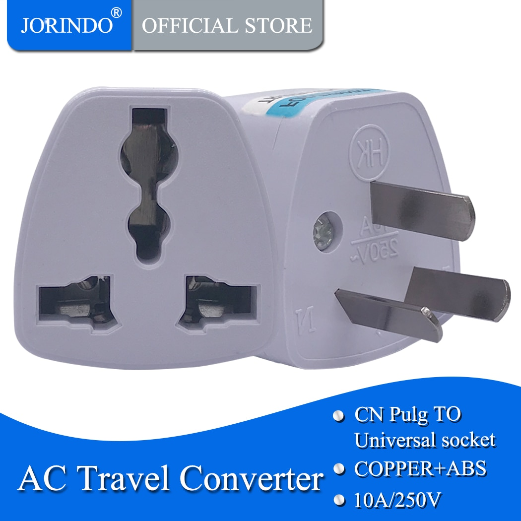 JORINDO Australian standard travel adapter for EU, US, UK TO AU power adapter conversion,10A250V