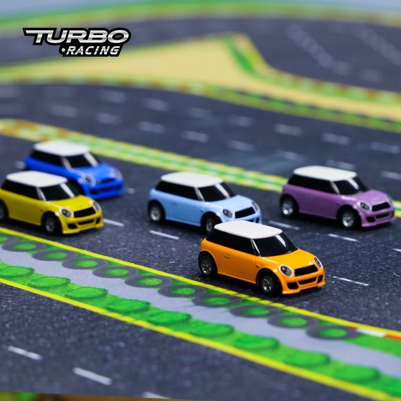 Turbo Racing 1:76 RC Car with 2 x Mini RC Cars and Remote Controller Electric Race RTR Kit Control Experience Car Kids Toys Gift enlarge