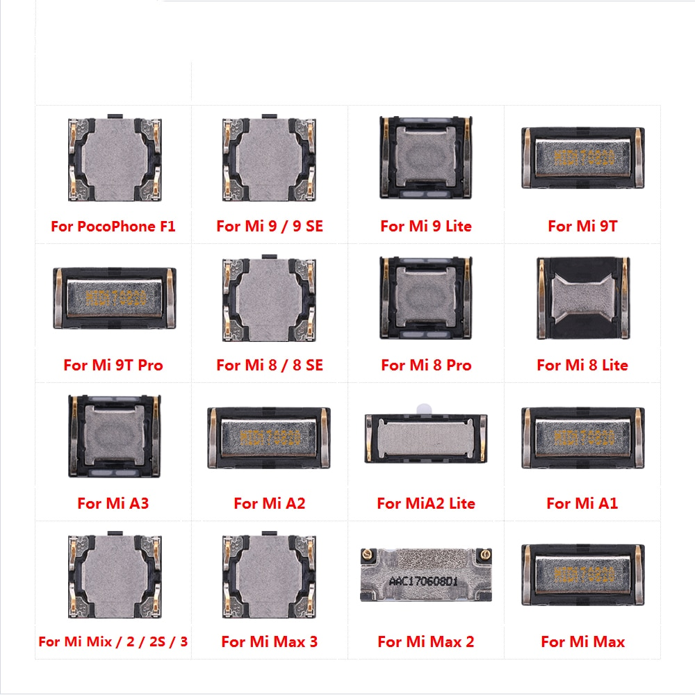 (5 piezas) altavoz para XiaoMi Mi teléfono móvil Poco F1 9 9T 8 Pro SE Max 2 3 mezclar 2S A3 A1 A2 Lite