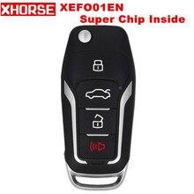 Супер удаленный ключ XHORSE XEFO01EN для Ford Style Flip 4 кнопки встроенный супер чип английская версия