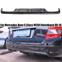 for mercedes benz w204 hatchback 2008 2010 carbon fiber rear lip protector bumper diffuser auto parts
