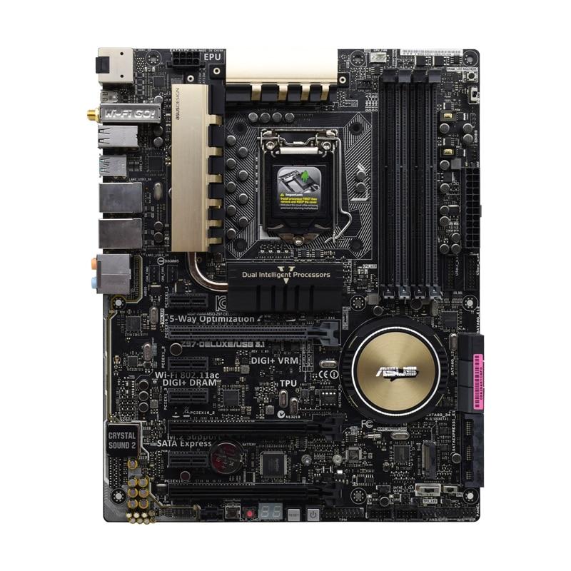 Placa base de escritorio Z97-DELUXE/USB3.1, para Socket LGA 1150 DDR3 RAM USB3.0...