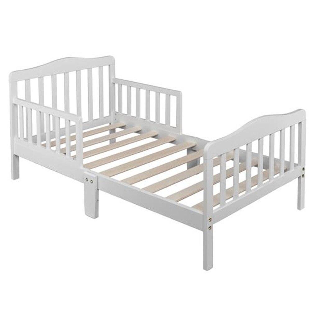 Mobília de madeira do quarto das crianças da cama da criança do bebê com guardrails da segurança branco