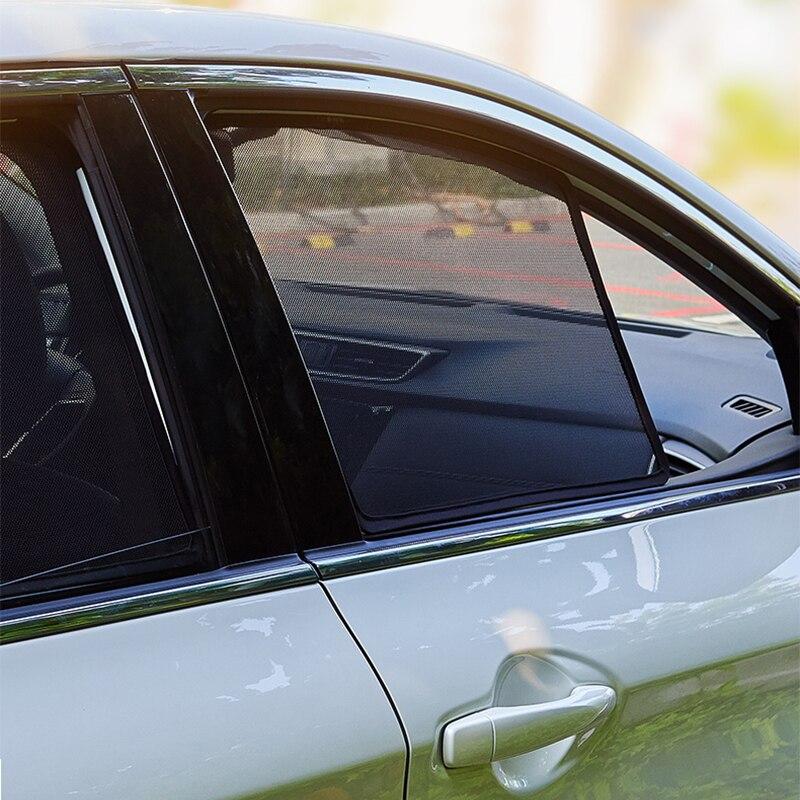 Magnetic Car Sunshade Front Windshield Door Mesh Frame Curtain For Kia Sorento 2015-2020 Vehicle Sunshield Side Window Sun Visor
