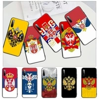 russian national emblem black silicone mobile phone cover case for honor 7a pro 7c 10i 8a 8x 8s 8 9 10 20 lite