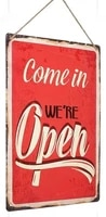 retro tin paintings tin metal sign come in we re open distred reproduction retro door sign wall decor