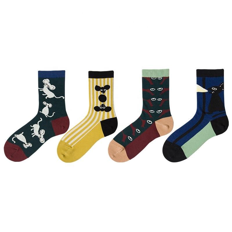 Новое поступление, круглые носки, стильные оригинальные дизайнерские носки унисекс с рисунком