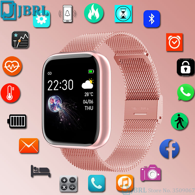 2021 New Smartwatch Women Men Bluetooth Waterproof Smart Watch For Android IOS Electronic Clock Fitness Tracker Full Touch Hours