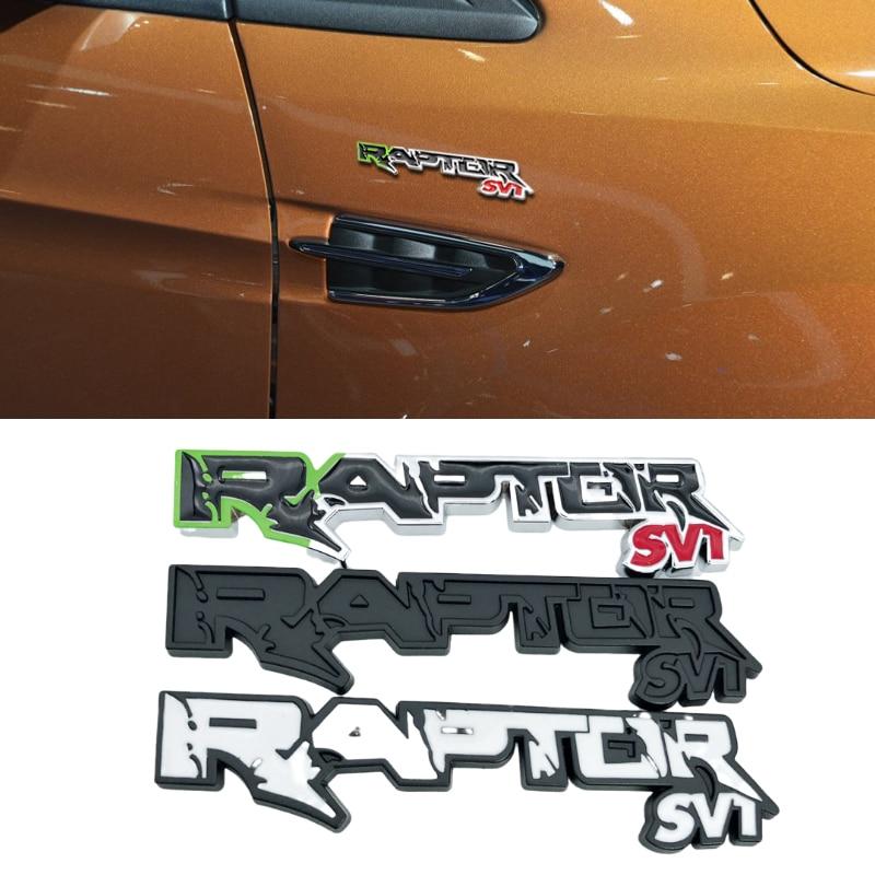 Diseño de coche para SVT RAPTOR emblema insignia calcomanía Metal coche pegatina para F150 Mondeo Gt500 MK7 Mondeo foco decoración de carrocería
