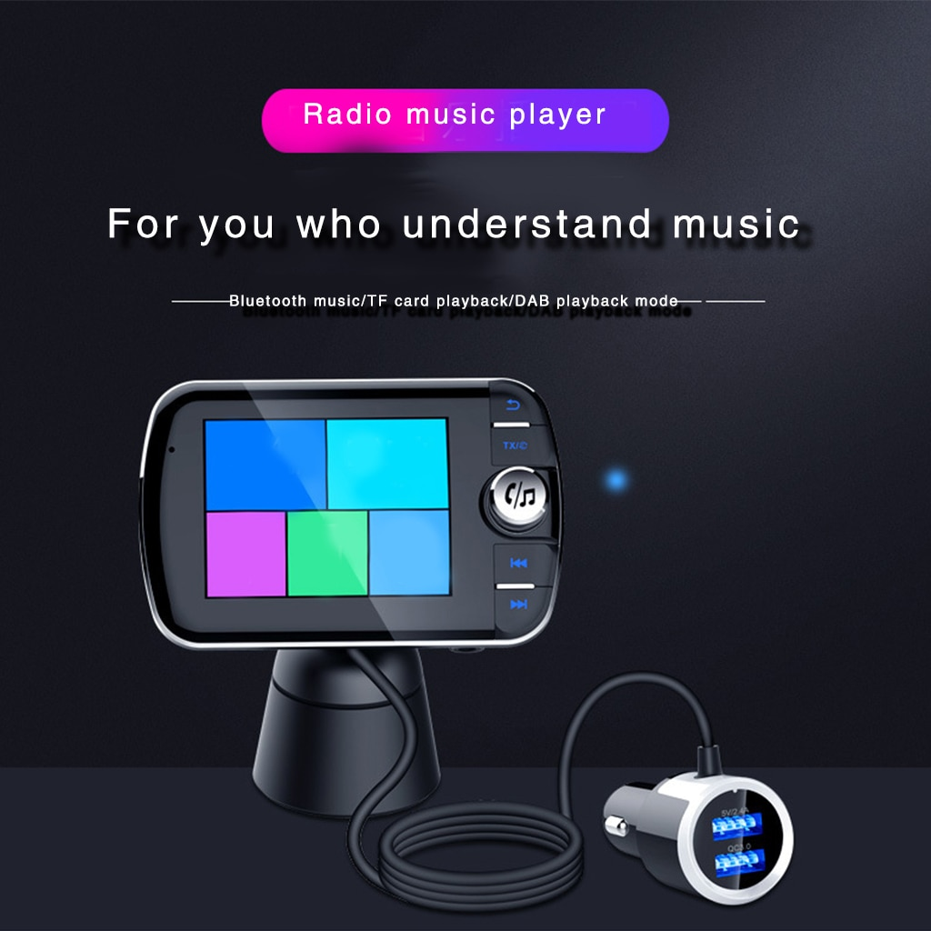 bluetooth-compatible-receiver-adapter-for-wireless-audio-car-speakers-fm-port-dab-car-sound-system-fm-plug-and-play