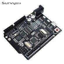 UNO R3 + WiFi ATmega328P + ESP8266 (32Mb speicher) USB-TTL Für Arduino Uno NodeMCU WeMos ESP8266 Eine Neue Ankunft diy