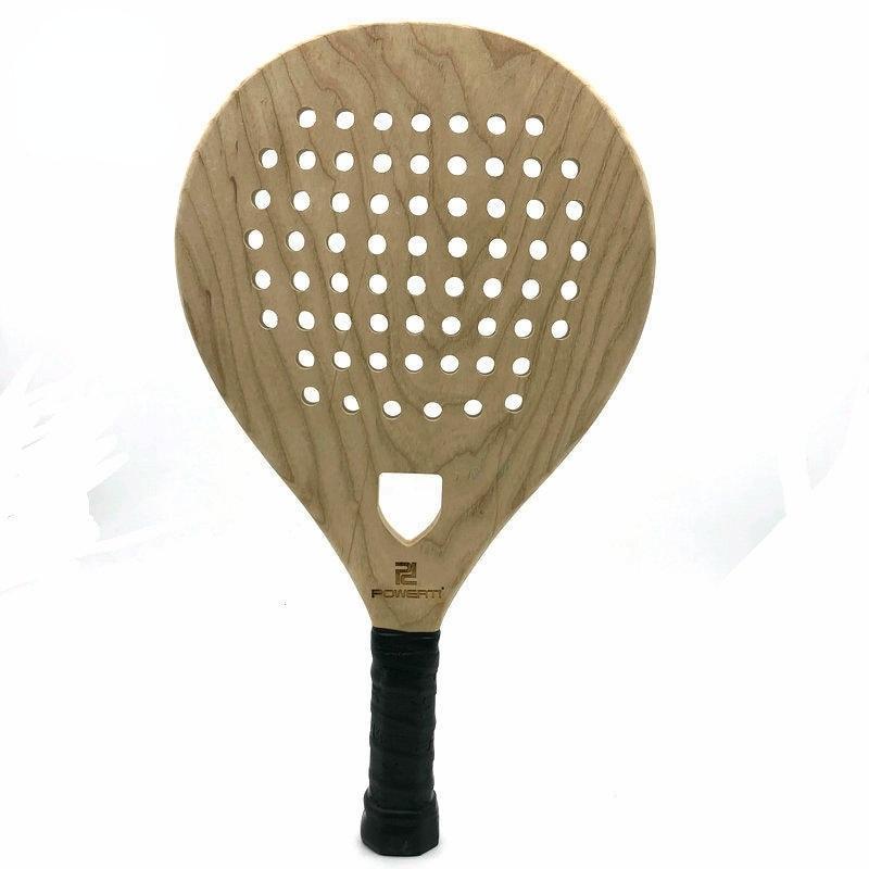 Wooden Racket Beach Tennis Men Women Beach Sport Tennis Paddle Racket Professional Beach Racket with Cover Bag
