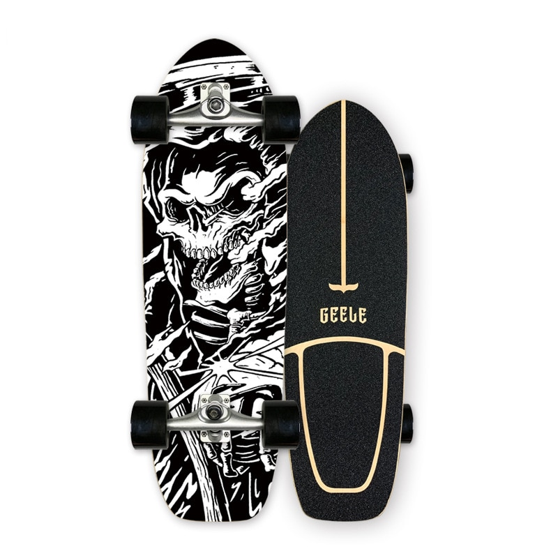 Highly Smooth Carver Surf Land Skateboard CX4 Professional Maple Cruiser Skate Board Longboard For Street Brushing Carving