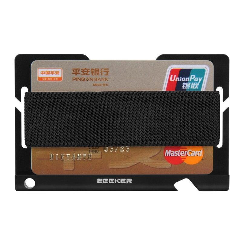 RFID bloquant les porte-carte de crédit en métal avant poche hommes portefeuille court sac à main pour étui pour carte didentité porte-cartes mince sac dargent
