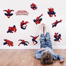 Autocollants muraux spiderman de disney pour chambres denfants, décoration de maison, dessin animé marvel hero, affiches murales en pvc pour bricolage, art mural