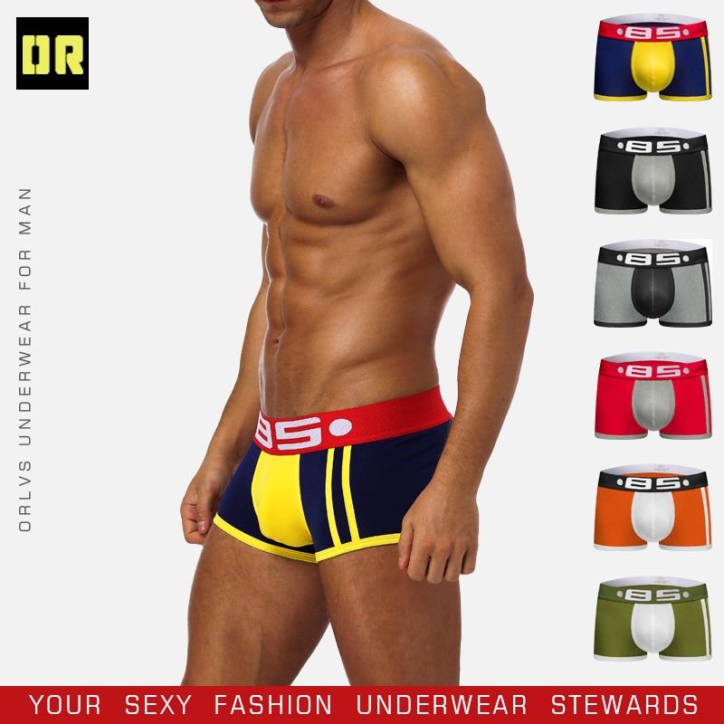 BS Cotton Boxershorts Men Comforable Panties Set трусы мужские боксеры  Gay  Underwear Man Boxer 5Color Free Shiping