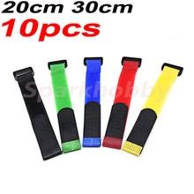10PCS 2MM width 20CM 30CM length nylon Reverse buckle velcros magic hook loop fastener cable ties for RC models DIY ACCS parts