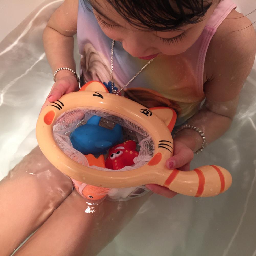Animales flotantes, juguetes de baño para niños, red de pesca para atrapar al bebé, juguetes realistas adorables, efectos de sonido, hechos por animales