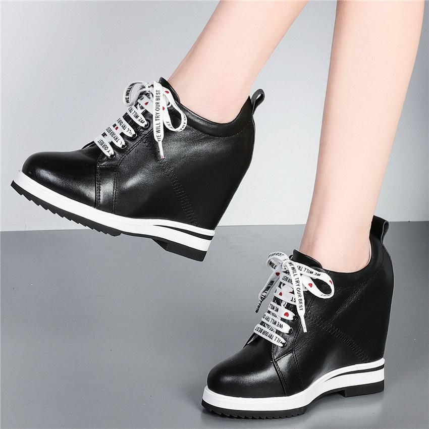حذاء تنس نسائي برباط من الجلد الطبيعي ، حذاء نسائي بكعب عالٍ للغاية ، بانك ، قوطي ، غير رسمي