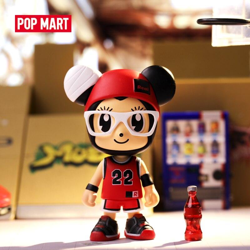 POP MART Stayreal Mouse маленькие художественные фигурки бинарные фигурки подарок на день рождения Детские игрушки игрушечные фигурки животных Бесплатная доставка