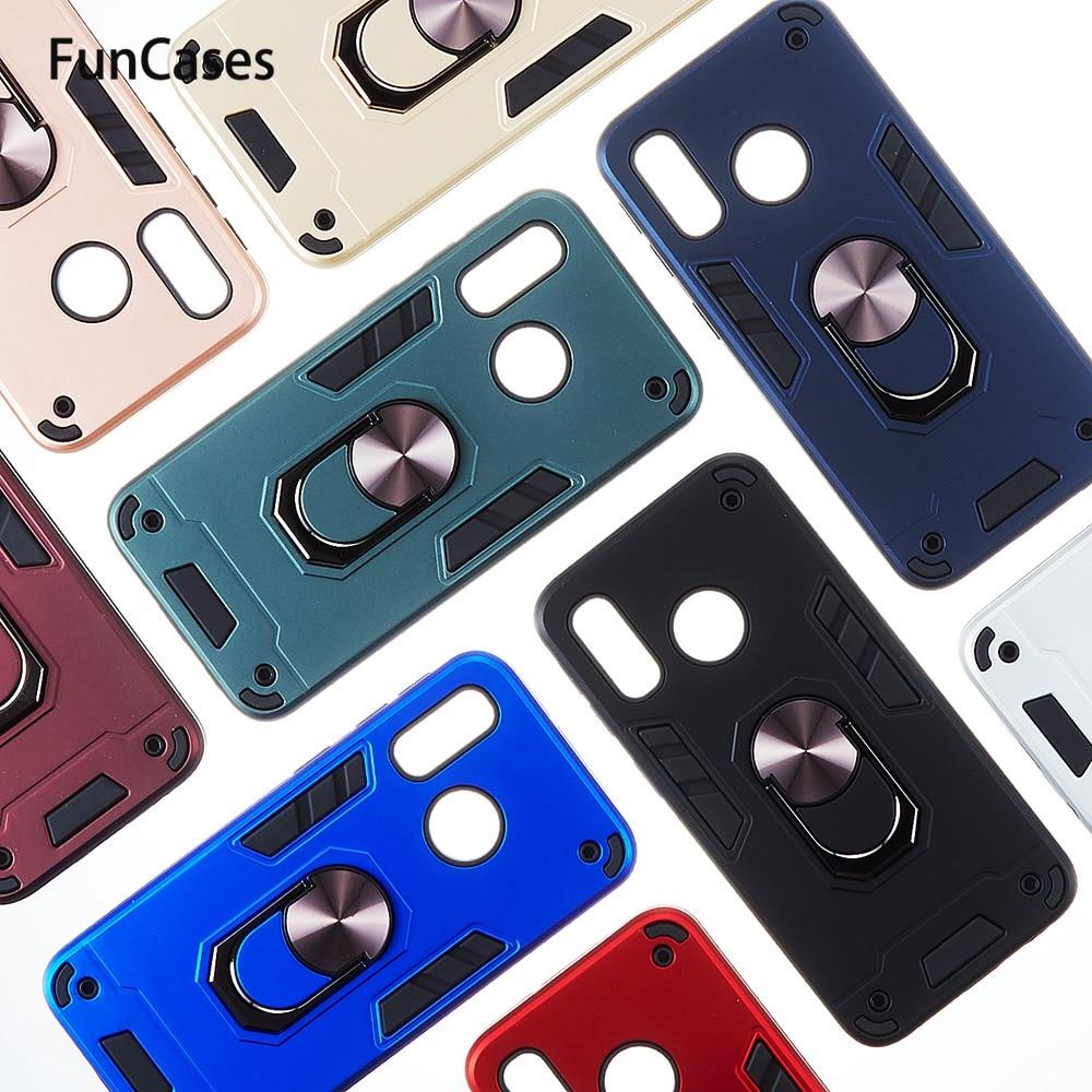 Car Ring Armor Clear Cases For carcaso Samsung A40 Hot Cases Carcaso PC + TPU Shell sFor Capa Samsung Galaxy capa A40 Holder