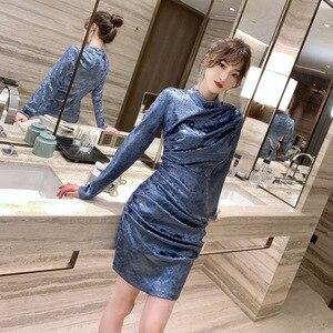 2021 Spring New European Women's Retro Leather Fold Bag Hip Dress Dress Birthday Dress for Women