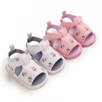 2021 summer 0 18m baby girl embroidered lovely sandals soft sole non slip infant toddler newborn shoes footwear 5 colors