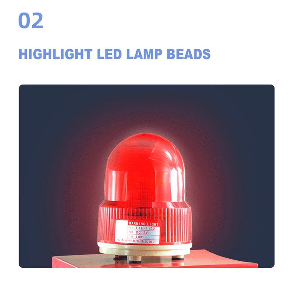 LED Industrial Audible and Visual Alarm outdoor port crane alarm  100W 220V/380V  Adjustable volume enlarge
