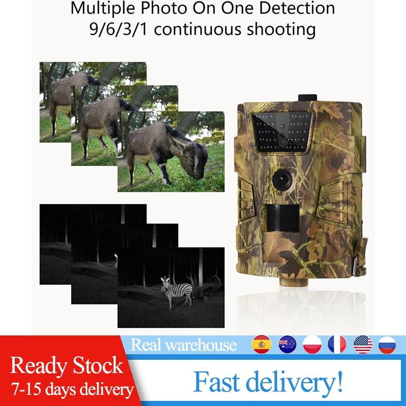 Trail Hunting Cámara Wildcamera trampas tiempo de disparo de vigilancia salvaje 0,3 s 12MP 1080P Wildlife Scouting cámaras foto