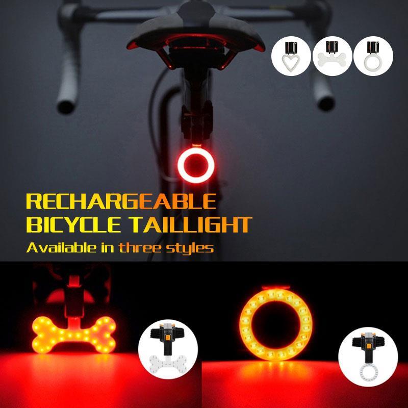 Luz intermitente, luces traseras LED para bicicleta, equipo de ciclismo, luz trasera de advertencia, 3 vatios, lámpara negra para bicicleta, altavoz portátil