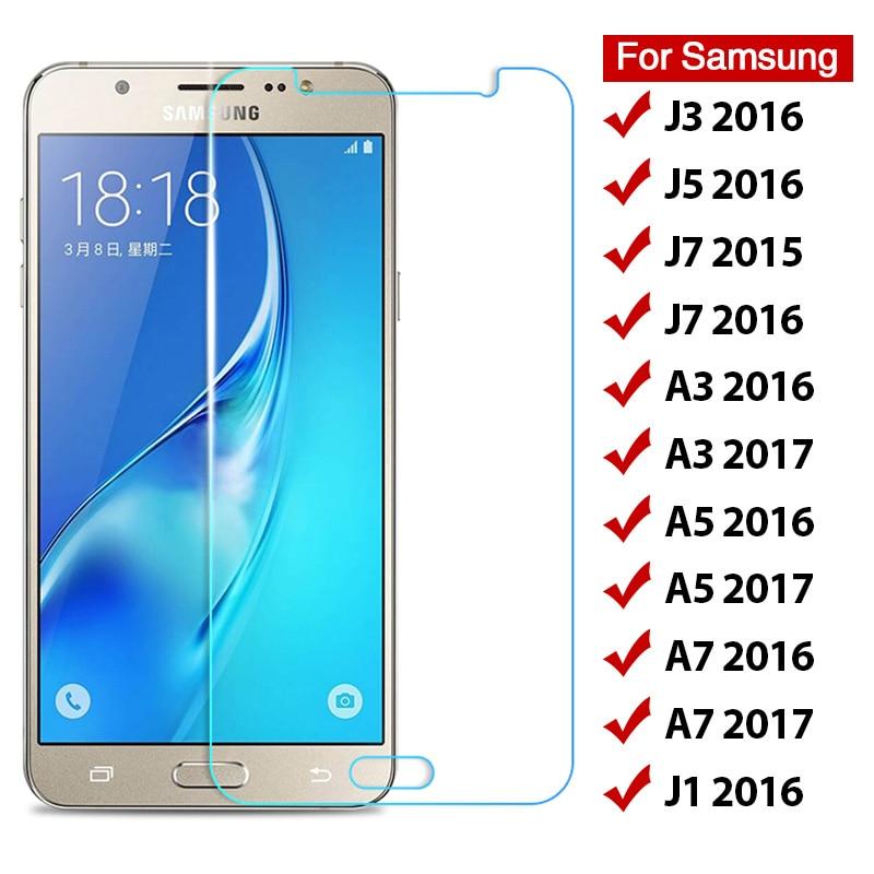 Szkło hartowane do Samsung Galaxy J3 J5 J7 J1 2016 9H folia ochronna do Samsung A3 A5 A7 2017 twarda folia ochronna przednia