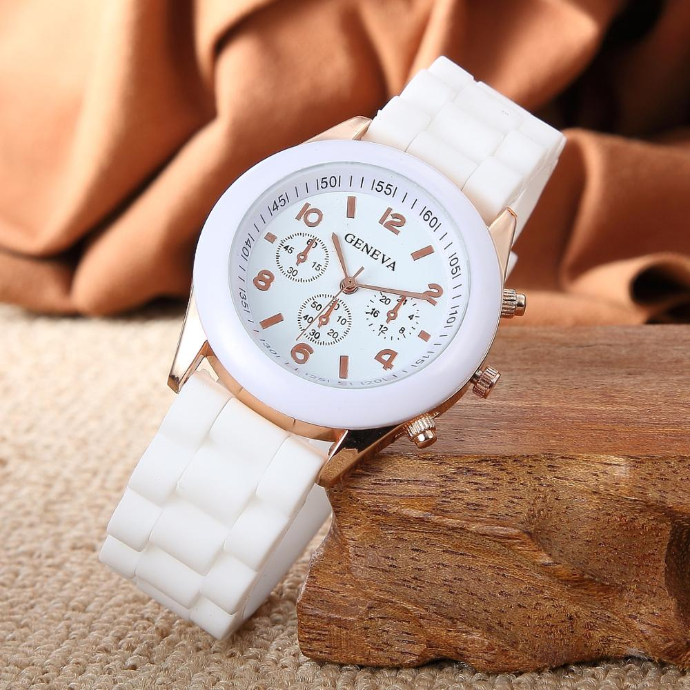 Geneva Silicone Watches Fashion Beautiful Colorful Jelly Student Clock Casual Luxury Woman Watch Zeg