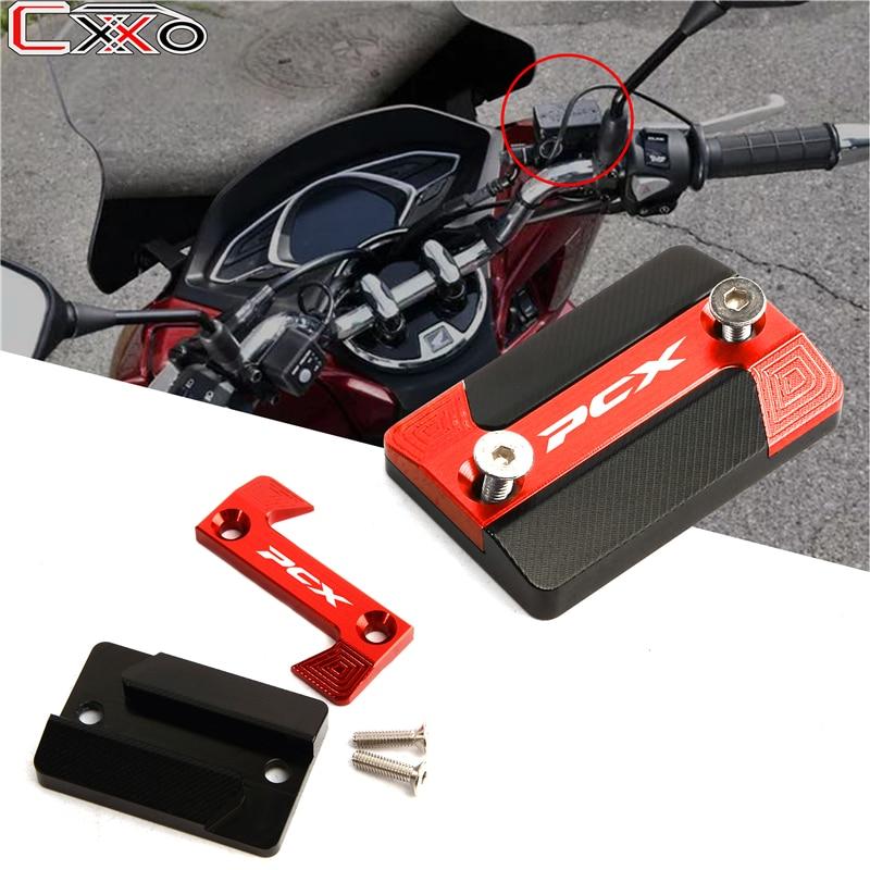 For Honda PCX 125 150 PCX150 PCX125 2018-2019 Motorcycle Front Brake Reservoir Fluid Cover Cap Protector LOGO PCX